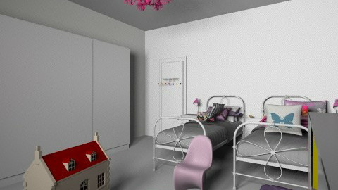 girls share bedroom 2 - Bedroom - by melbapink8