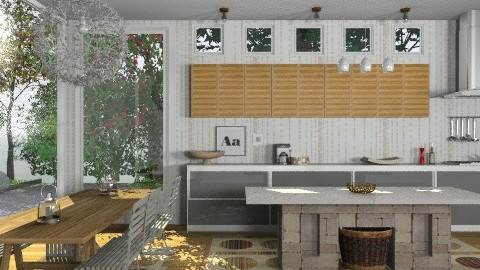 Random Spaces - Modern Kitchen - Modern - Kitchen  - by LizyD