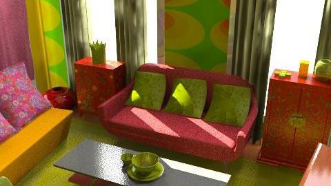 happy color - Retro - Living room  - by mogly