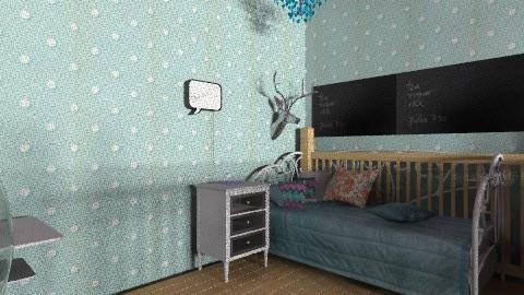 A bedroom 13 - Retro - Bedroom  - by sophierosebailey