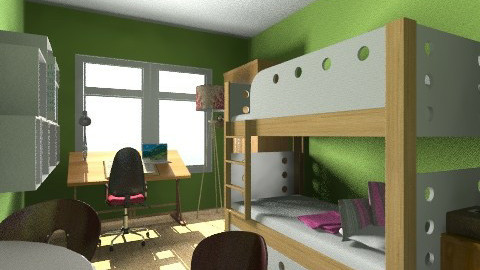 Student Condo - Retro - Bedroom  - by minks
