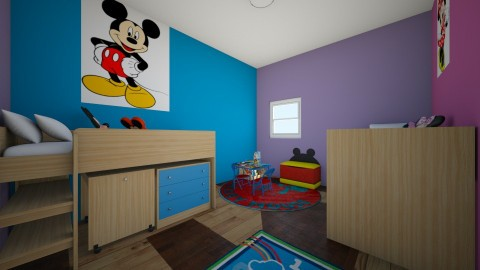 Mickey and Minnie Mouse - Kids room - by interiordesignmajor013