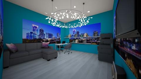 blue light city - Modern - Office  - by Nylearb
