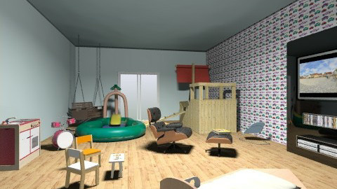 Imagination - Retro - Kids room  - by londonngirl14