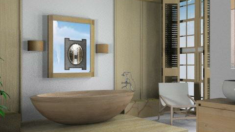 natural bathroom3 - Feminine - Bathroom  - by liling