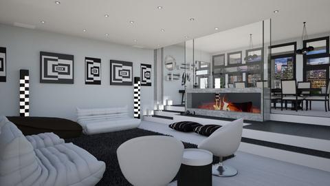 City Apartment Familyroom - Minimal - Living room  - by Amyz625