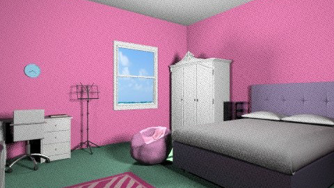 A Girls Dream Bedroom - Glamour - Bedroom  - by Minnie12390