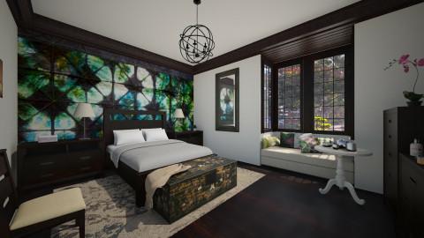 Shibori bedroom - Bedroom  - by Lizzy0715
