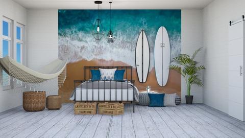 Surf fan bedroom - Bedroom  - by Victoria_happy2021