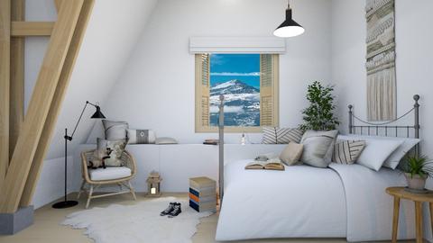 swiss attic bedroom - Bedroom  - by elia07