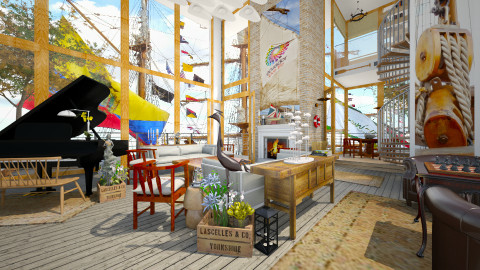 Tall Ships - Eclectic - Living room  - by russ