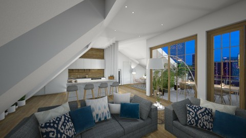 Rooftop Appartment - Modern - Living room  - by StienAerts