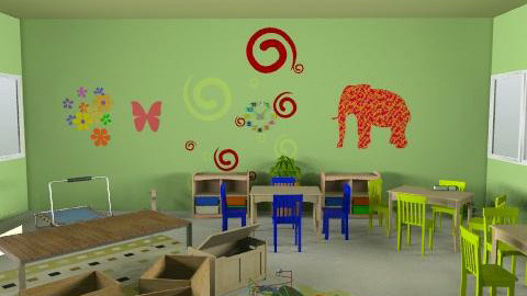 paud rusa - r1vmejaguru - Country - Kids room  - by aryantono