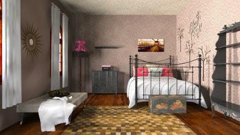 Morgan - Rustic - Bedroom  - by sharynbuman