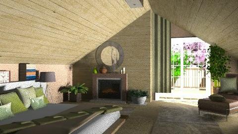 loft bedroom - Modern - Bedroom - by KittiFarkas