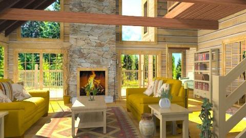 Chalet en Montagnes - Rustic - Living room  - by Bibiche