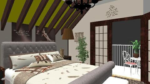 anclote attic - Classic - Bedroom  - by viki_asenova