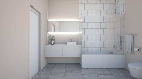 guest bathroom - Modern - Bathroom  - by rcrites457