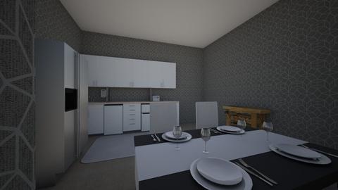 silver kitchen - Kitchen  - by Lowri_mai