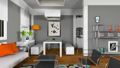 Confetti apt - Modern - Living room  - by liling