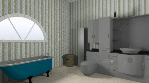 retro urban bathroom - Retro - Bathroom  - by sylviamata