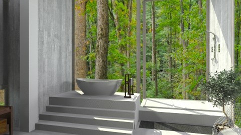 forest - Bathroom - by fisgalor1996