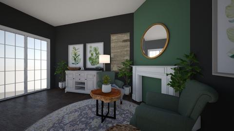 Green Living Room - Living room  - by Bubblytea