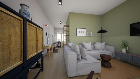 klaar bank open - Living room  - by sannewiekamp