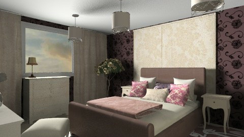 For Ahynes87 - Eclectic - Bedroom  - by chania
