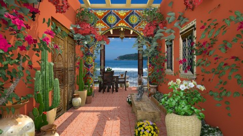 Design 207 Hacienda by the Sea - Garden  - by Daisy320
