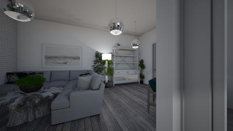 wild white room - Living room  - by monek299