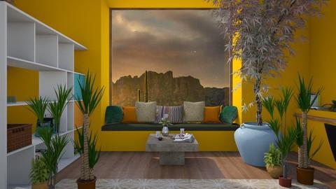 yellow sunrise library  - Retro - by aschaper