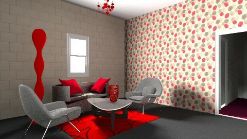 black and red - Living room  - by zerya sama