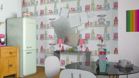 family kitchen - Retro - Kitchen  - by yasemin04