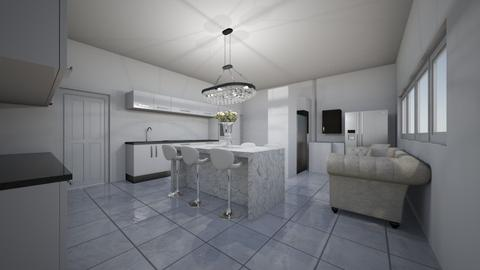 glossy kitchen  - Kitchen  - by ange06