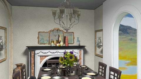 Court Yard Dining - Classic - Garden  - by natural11