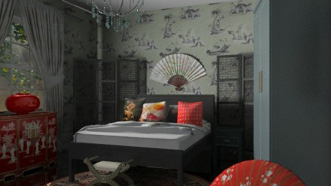 chinese corner - Eclectic - Bedroom  - by chania