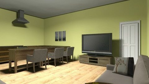 Green living room - Country - Living room  - by Chelsc411