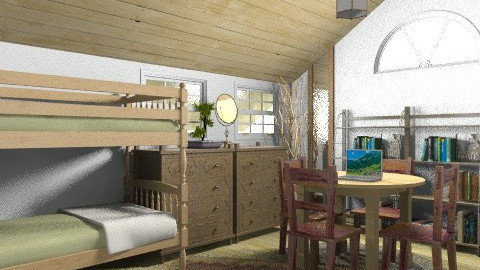 Rustic Twin Room - Rustic - Bedroom  - by coco_pps