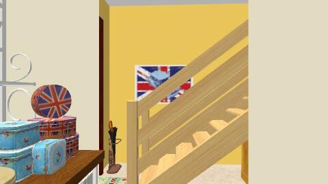 Basement kitchen and entrance/stairway - Vintage - Kitchen  - by PrincessDecember