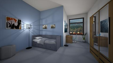 Blue - Masculine - Bedroom - by Twerka