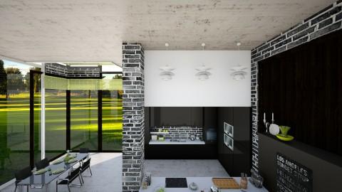 black kitchen - Kitchen - by Rebecca Kwan