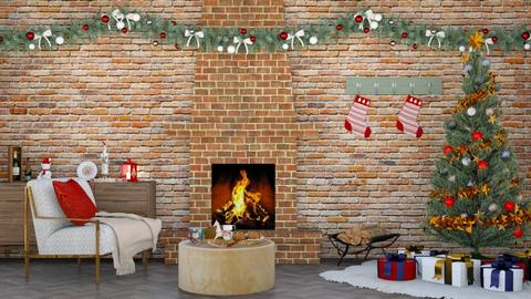 Christmas - Living room  - by Mint_2005
