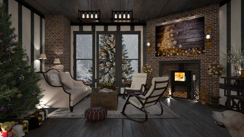Design 483 Tudor Cottage Christmas - Living room  - by Daisy320