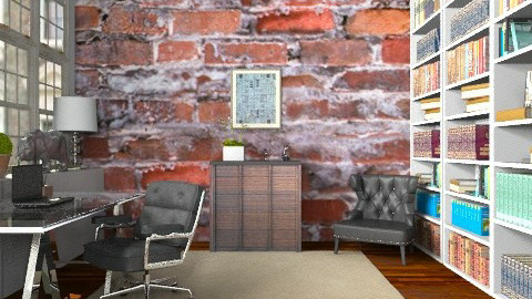 Office in the Warehouse Apartment - Modern - Office  - by Carliam