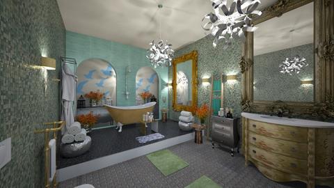 Tyrqouise_Metal_Bathroom_ - Eclectic - Bathroom - by Nikos Tsokos