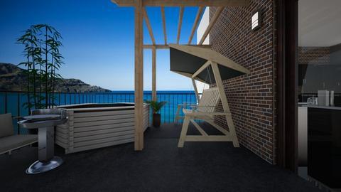 Rooftop Terrace - Global - Living room  - by kristenaK