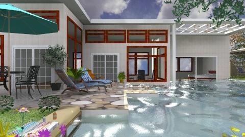 The Big Pool - Modern - Garden  - by Bibiche