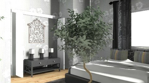 Discover the Side of.......Black+Gray! - Retro - Bedroom  - by CMSmith