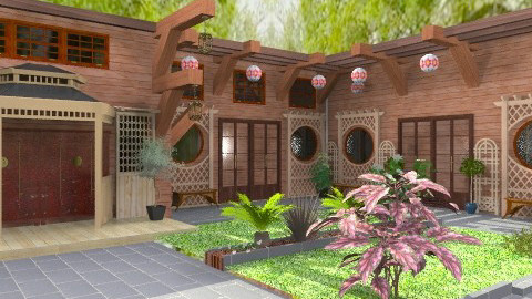 Touch of Chinese - Classic - Garden  - by Bibiche